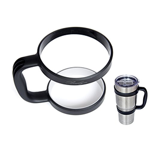 Bailyn Non-slip Handle for 30oz Yeti Rambler,RTIC Tumbler Thermik,Sic cup Ozark Trail and other 30oz size cups-Lightweight coffee car Cup Holder(only handle) (Black)
