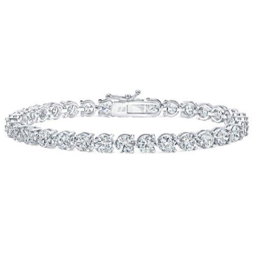 5.00 Ct Ladies Round Cut Diamond Three Prong Tennis Bracelet by Madina Jewelry