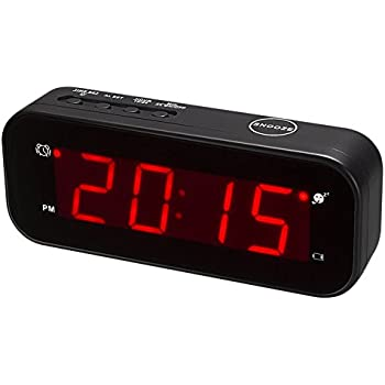 Kwanwa Small Digital Alarm Clock For Travel With LED Temperature Or Time Display Stays On