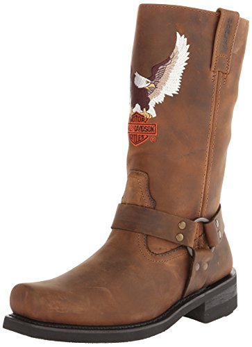 Harley-Davidson Men's Darren Motorcycle Harness Boot, Brown, 11.5 M US