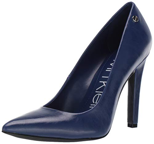Calvin Klein Women's Brady Pump, Cobalt Varnished Crackle Leather, 7 M M US