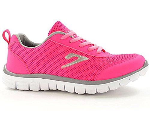 Ladies 816109Galop Mesh Lace Up Formadores ligero Casual comodidad deportes gimnasio Zapatillas de running Rosa