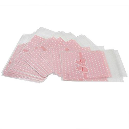50x-Bolsas-Puntos-Rosa-Plsticos-126x79cm-para-Regalos-Caramelos-Pasteles-Galletas