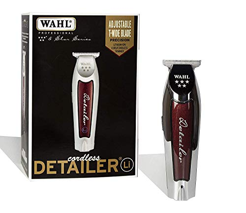 Wahl Professional 5-Star Series Lithium-Ion Cord/Cordless Detailer Li #8171 Ultra Close Trim from the Line Loved by Barbers- 100 Minute Run Time (Wahl 5 Star Detailer T Blade Trimmer)
