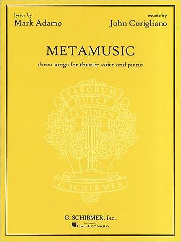 Book John Corigliano: Metamusic - Three Songs For Theater Voice And Piano