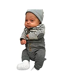 Baby Boys Clothes, VEKDONE Newborn Baby Boys Long Sleeves Stripe Tops+Pants Infant Outfits Clothes Sets