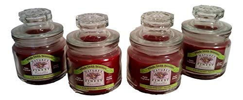 4 Ct. Beeswax Candles Strawberry Fields Sampler Jars
