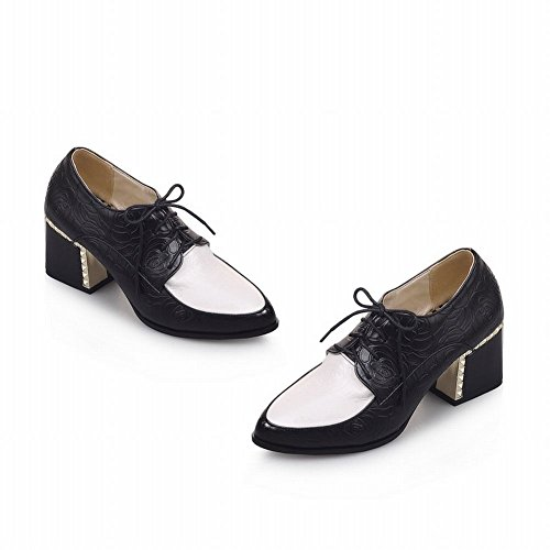 445a6bda54db Latasa Womens Fashion Mid-heel Chunky Lace-up Leather Oxford Shoes low-cost