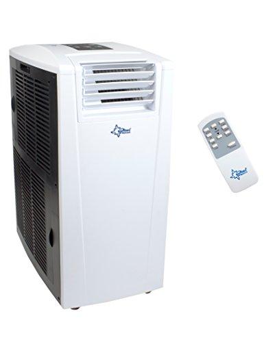 KLIMATRONIC  ENERGIC 9.0+ mobiles lokales Klimagerät [12303] [EEK A+/A+++] (Für Räume bis 90 m³ (~38m²), Kühlen + Heizen + Entfeuchten, 9.000 BTU/h, weiß)