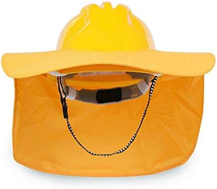 サンシェード付き建設ヘルメット - 通気性日焼け止め付き建設安全ヘルメット (Color : A)