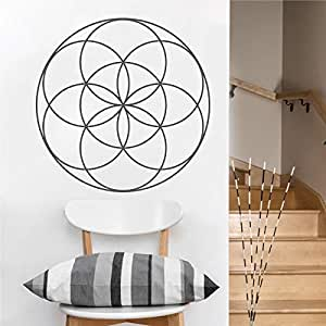 Ajcwhml Flower of Life Mandala Vinyl Wall Decal Headboard Window ...