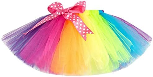 [해외]Children Kid Girls Tulle Tutu Rainbow Princess Pettiskirt Party Dance Ballet Skirt Costume 2-10 Years / Children Kid Girls Tulle Tutu Rainbow Princess Pettiskirt Party Dance Ballet Skirt Costume 2-10 Years (Multicolor, 9T)