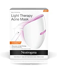 Neutrogena Light Therapy Acne Treatment Face Mask, Chemical & UV-Free with Clinically Proven Blue & Red Acne Light Technology, Gentle for Sensitive Skin, 1 ct
