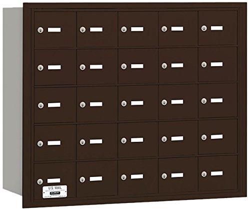 Salsbury Industries 3625ZRU 4B Plus Horizontal Mailbox, 25 A Doors, Rear Loading, USPS Access, Bronze