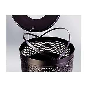 25-Gal Howard Classics Industrial Recycling Bin [Set of 2] Finish: Black Powder Coated