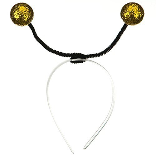 Bee Costumes Mascot Bumble (Gold Bumble Bee Antenna Headband by Jacobson Hat)