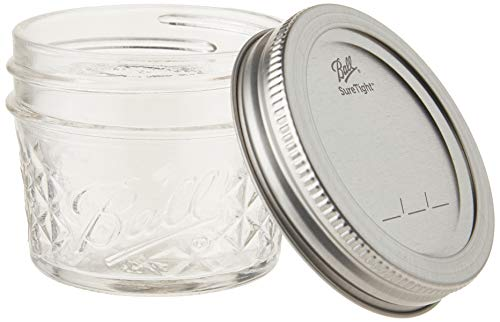 Ball 4-Ounce Quilted Crystal Jelly Jars with Lids and Bands, Set of 12-2 Pack (Total 24 Jars) by Ball (Image #1)
