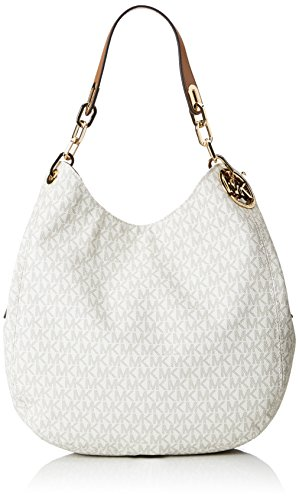 MICHAEL Michael Kors Signature Large Fulton Shoulder Bag (Vanilla)