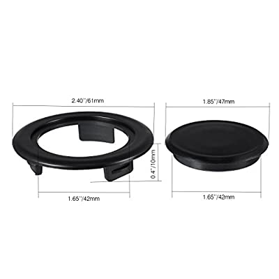 Bememo 2 Inch Patio Table Umbrella Hole Ring And Cap Set Standard