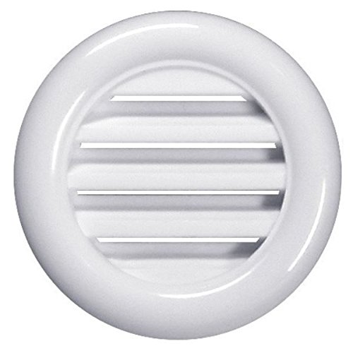 "White Bathroom Door Mini Circle Air Vent Grille 40mm / 1.57"" Two Sided Round Ventilation Ducting Cover Furniture Soffit Grid T71"