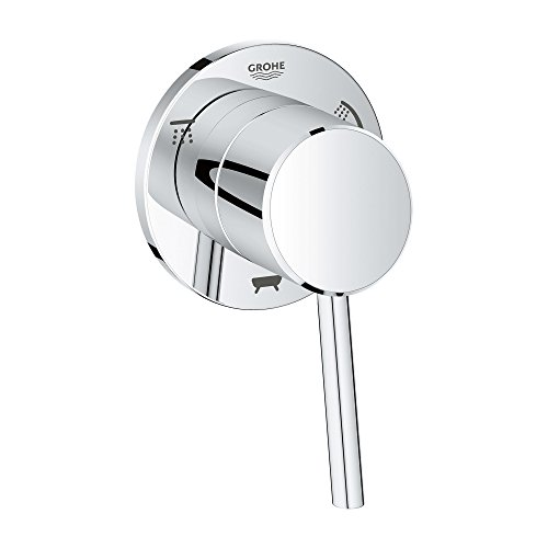Grohe 29106001 Concetto 1-Handle 3-Way Diverter Trim Kit in Starlight Chrome (Valve Sold Separately)