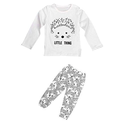 Hedgehog Outfits (Matoen 1 Set Baby Girl Boy Cartoon Hedgehog Tops With Pants Outfits (6~9 Months))