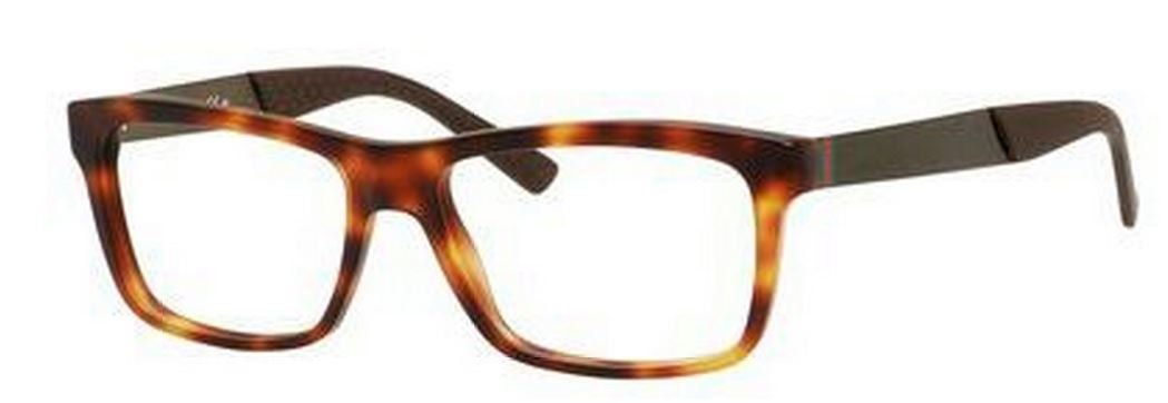 a9f7d955f55 Amazon.com  Gucci GG1045 Eyeglasses-0CTF Havana-55mm  Clothing