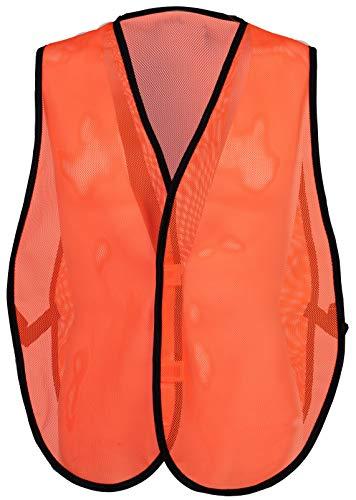 Safety Depot Economy Safety Vest Light Weight Mesh Durable Hi Vest Low Cost Value One Size Fits Most (Pack of 3) (8018D, Orange) - Open Mesh Value Vest