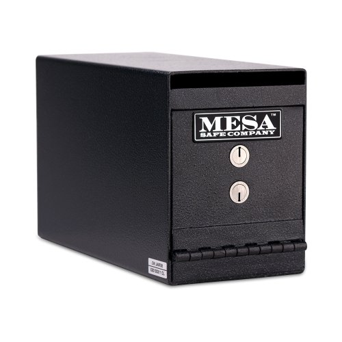 Mesa Safe Company Model MUC2K Undercounter Depository Safe with Dual Key Lock, Dark Gray