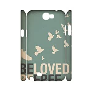 Be Free Personalized 3D Cover Case for Samsung Galaxy Note 2 N7100,customized phone case ygtg581452