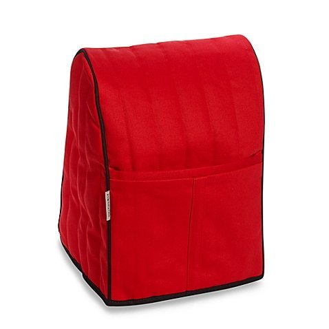 Stand Mixer Cover Dust-proof with Organizer Bag for Tilt-Head Stand Mixers (Red)