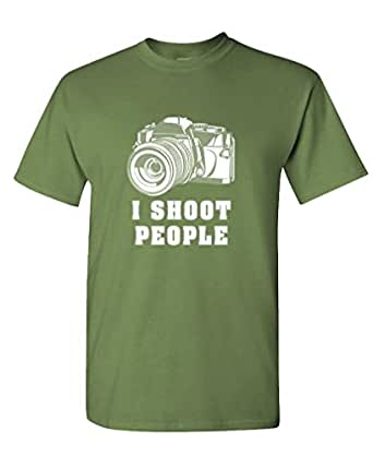 I SHOOT PEOPLE - camera photography film Tee Shirt T-Shirt, S, Army