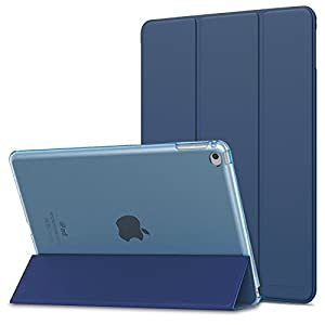 "MoKo Case Fit iPad Air 2 [Not fit iPad Air] - Slim Lightweight Smart Shell Stand Cover with Translucent Frosted Back Protector Fit iPad Air 2 9.7"" Tablet, Navy Blue (with Auto Wake/Sleep)"