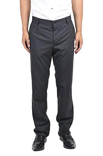 Dolce & Gabbana Men's Virgin Wool Multi-Color Flat Front Dress Pants US 32 IT 48