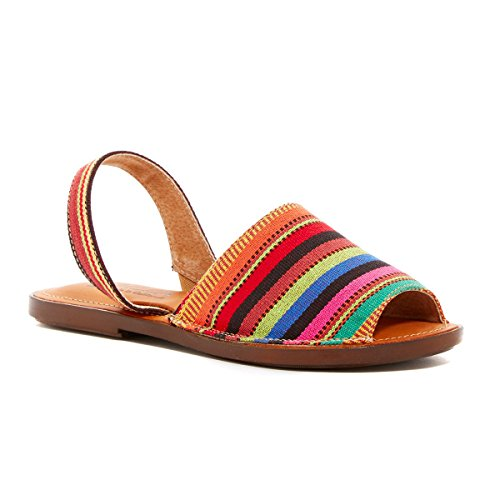 Sbicca Aliso Women's Flat Slingback Sandals (8 M US, Red / Multi)