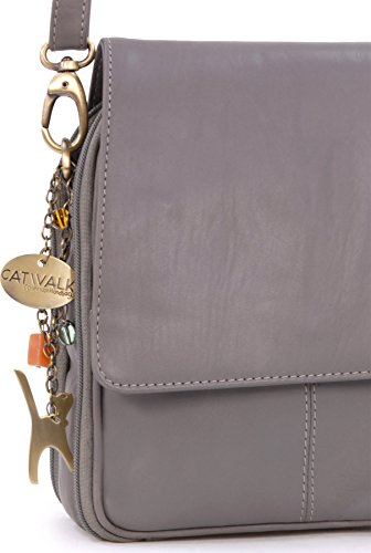 en Sac Catwalk cuir signé besace type Collection Gris