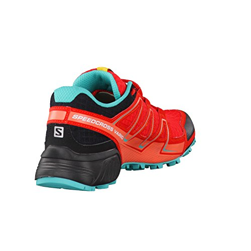 SalomonSpeedcross Vario - Zapatillas de Running para Asfalto Mujer Rojo (Poppy Red/Black/Ceramic)