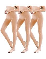 Vertvie 1/3/5-pack dames thermische panty leggings met binnenfleece voor herfst winter Super stretch warme ondoorzichtige leggings