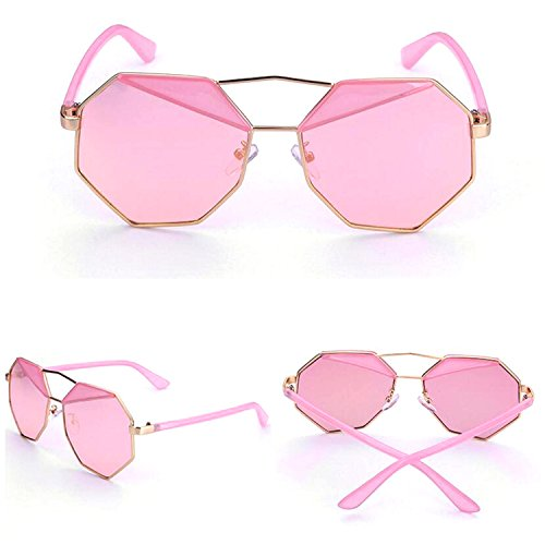 Laura Fairy Vintage New Design Octagon Shape Revo Uv400 Unisex - Mens Sunglasses New
