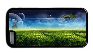 Funny iphone covers girly Dream landscape digital design farm windmill green TPU Black for Apple iPhone 5C