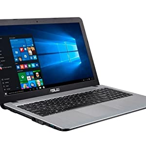 Asus Laptop (Pentium Quad Core N4200 CPU, 4GB RAM, 500GB HDD, DVD RW, 15.6 inch Display, WIN10, Silver)