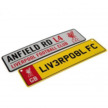 Official Liverpool FC Set of Two Window Signs