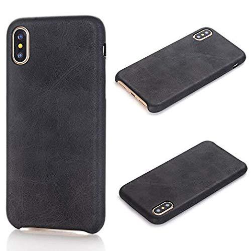 TechCode iPhone 2017 5.8 inch Phone X Slim Case, Luxury PU Leather Bumper Cover Phone Skin Super Slim Protective Case For Apple iPhone X 5.8 Inch