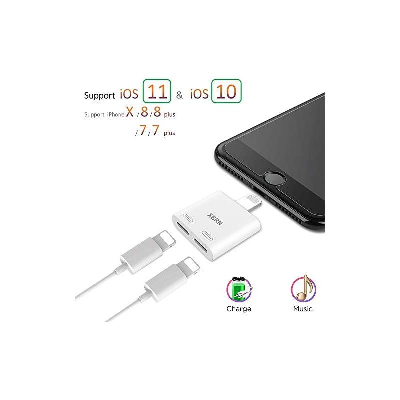 XBRN Dual Lightn Phone Adapter Splitter