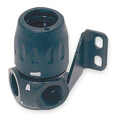 Parker 6684 25 22 Two Port Wall Bracket, 1/2 NPT, for 25mm