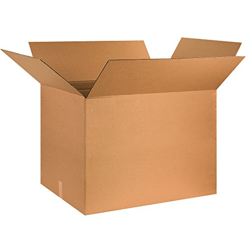 BOX USA B302624 Corrugated Boxes, 30'' x 26'' x 24'', Kraft (Pack of 10) by BOX USA