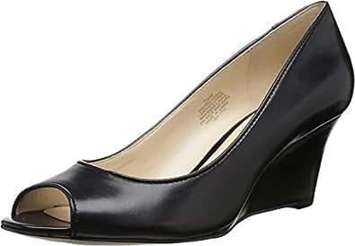 Nine West Women's Relaxinn Black Leather 2 Sandal
