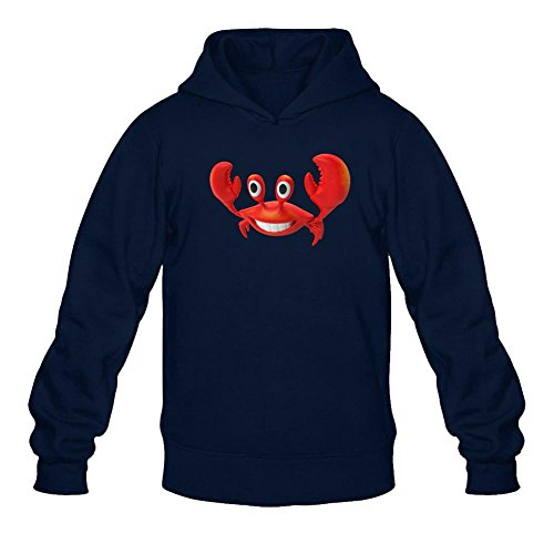xieling-mens-funny-red-crab-design-sweatshirts-hoodie