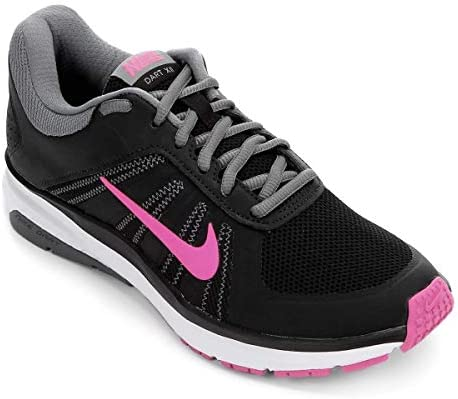 53da6457a069 Nike Women s WMNS Dart 12 MSL Blk Pink-Cool Gry Running Shoes-4UK ...