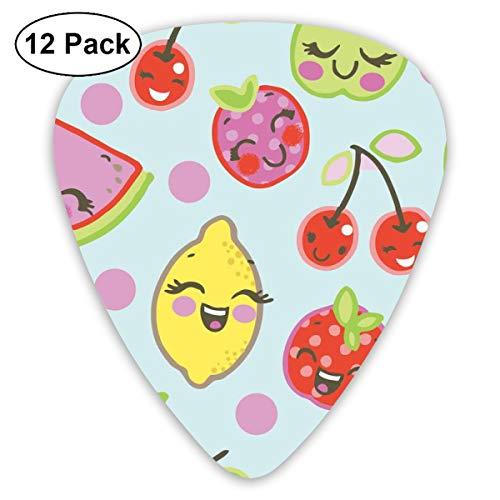 - HAIDILUN Cartoon Lemon Tomato Cherry Guitar Picks Plectrums Acoustic Guitar Ukulele Picks 0.46 Mm, 0.73mm, 0.96 Mm,12 Pack